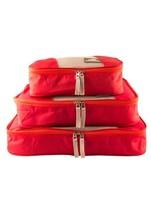 NEW MANCINI LUGGAGE PACKING CUBE SET OF 3 SMALL MEDIUM LARGE RED - $569,80 MXN