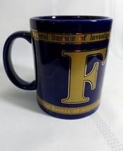 FBI Coffee Cup Federal Bureau of Investigation Blue Governmen Spy Mug Po... - $12.34