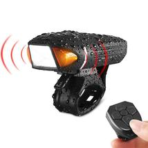 USB Rechargeable Bicycle Bike Horn Bell Front Head Light Headlight Lamp - $40.47