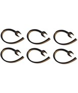 12 Pieces (6-clear/6-black) Earhook Ear Hook Clip Loop Replacement Compa... - $1.17