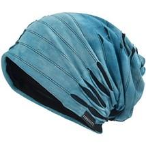 VECRY Mens Slouch Beanie Skull Cap Thin Summer Hat Retro Blue - $16.75