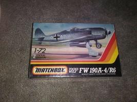 NEW Sealed Matchbox Focke-Wulf FW 190A-4/R6 1:72 Model Kit Airplane Plan... - $9.90