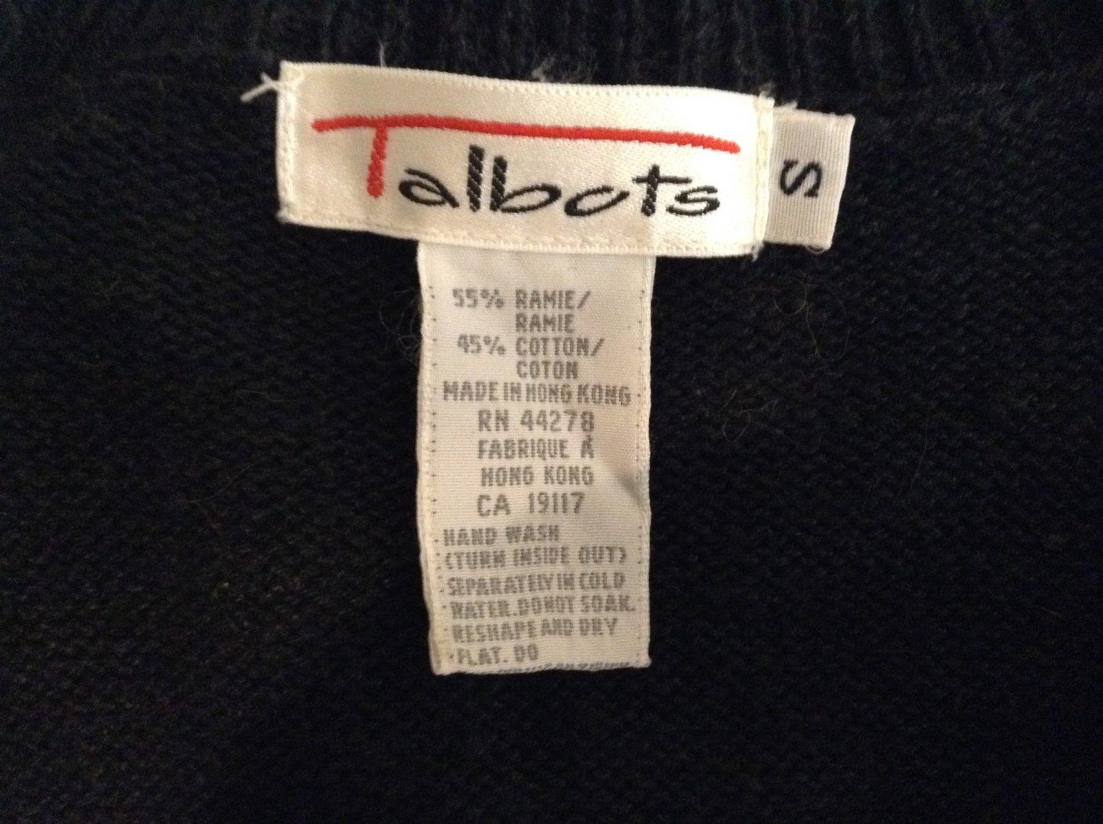 Thanksgiving Halloween Black/Orange Sweater Vest by Talbots Sz Small