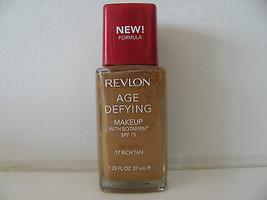 Revlon Age Defying Makeup SPF 15 for Dry Skin #17 Rich Tan 1.25 oz NWOB  - $6.92