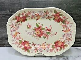 """Copeland Spode Red Spode's Aster 13"""" Rectangular Oval Serving Platter - $47.52"""
