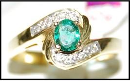 Handcrafted 0.18Ct Diamond 14K Gold Hallmark Engagement Ring IJ Color  C... - $585.57