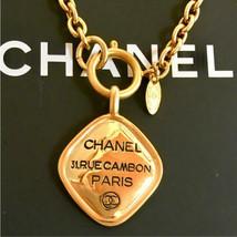 Auth Chanel Halskette Gelbgold Vergoldete Charm cc Logo CN0184 - $673.70