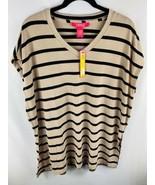 NWT CATHERINE MALANDRINO Women's Valencia Stripe Sleeveless Top Size Medium - $12.86