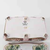 Vintage CAPODIMONTE Cherub Porcelain Trinket Dresser Box image 5