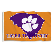 """Clemson """"Tiger Territory"""" With State Outline 3'x5' Flag with Grommets  - $35.95"""