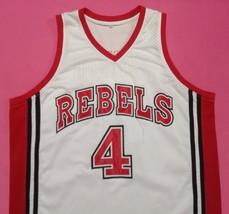 Larry Johnson Unlv Rebels White College Jersey Any Size Free Wwjd Bracelet - $29.99