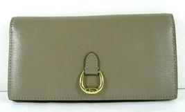 Ralph Lauren $98 NWT Taupe Tan Bifold Bennington Slim Wallet Clutch Checkbook - $57.42