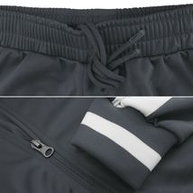 vkwear Men's Striped Athletic Running Jogging Gym Slim Fit Sweat Track Suit Set image 7
