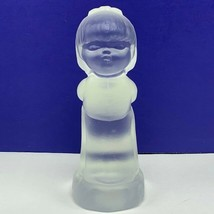 Fenton glass praying child figurine sculpture vintage girl crystal clear... - $33.66