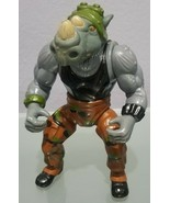 N)1988 Teenage Mutant Ninja Turtles Rocksteady Action Figure Mirage Toys - £7.34 GBP