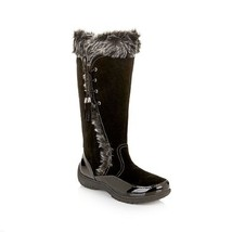 Sporto® Waterproof Suede Tall Boot Side Winder  Tassel Lace Up  Black Size 6.5 W - €27,74 EUR