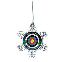 Holly Road Archery Target Field 3D 2019 Christmas Silver Ornament Snowma... - $16.82