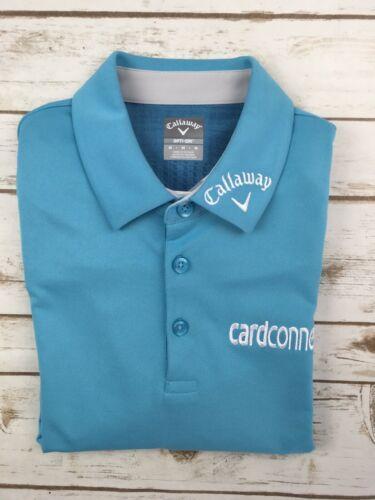 ba579dc87 Mens Callaway Polo Tour Issue Pro Golf Odyssey Opti Dri Aqua Blue Shirt M  Rare