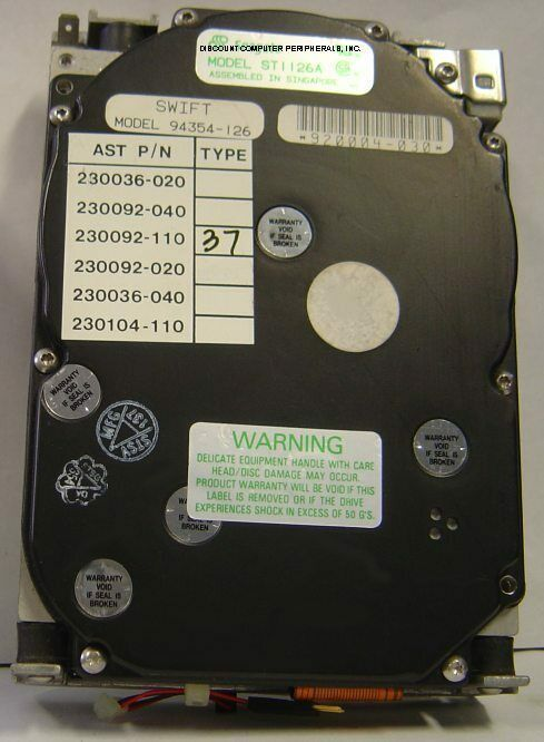 106MB 3.5IN HH IDE Drive Seagate ST1126A Tested Free USA Ship Our Drives Work