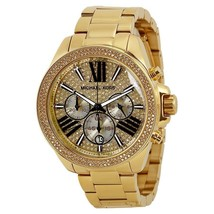 Michael Kors MK6095 Wren Pave Gold Crystal Ladies' Chronograph Watch - Rrp £299 - $118.74