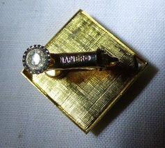 Pair NAPIER 1965 Screw Back Clip on Earrings Goldtone & Red Diamond Shape image 5