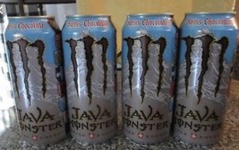 Monster Java Swiss Chocolate 15oz Cans. Total 4 Full Cans Lot. - $19.99