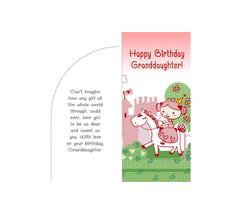 Princess Granddaughter Happy Birthday Money Card Template DIY Instant Do... - $3.00