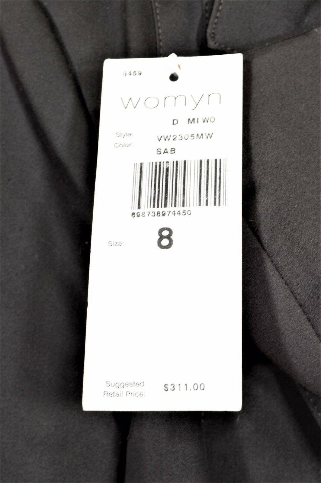 womyn jacket coat NWT SZ 8 dark brown 1-button closure lined NYC USA new image 5