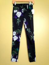 NWT J BRAND Designer Super Skinny Mid Rise Forest Floor Floral Black Jea... - $69.60