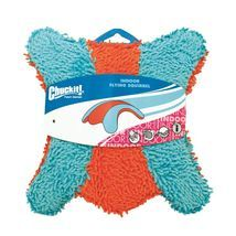 "Petmate Chuckit Indoor Squirrel Dog Toy Medium Orange/Blue 3"" x 8.5"" x 9"" - £8.45 GBP"