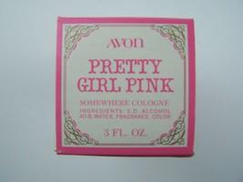 Avon Decanter Pretty Girl Pink Somewhere Cologne 3 Fl Oz Original Box Vi... - $6.72