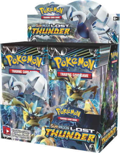 Pokemon TCG Sun & Moon Lost Thunder + Steam Siege Booster Box Bundle