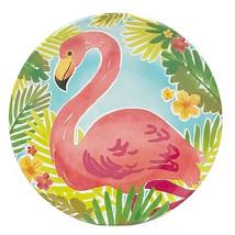 "Flamingo Melamine Plates 9"" Appetizer Dessert Salad Lunch set of 4 Beach... - $799,34 MXN"
