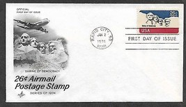 USA 1974 C88 AIRMAIL MOUNT RUSHMORE Lincoln Washington ARTCRAFT FDC - $0.99