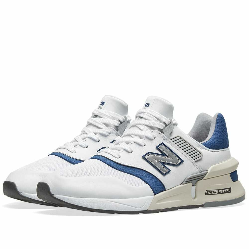 New Balance 997 Mens Trainers White/Blue Sneakers image 1