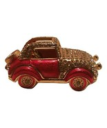 Vintage Red Car Shaped Bejeweled Trinket Box- Decorative Jewelry Boxes - $14.99
