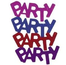 Confetti Word Party MultiColor Mix 14 gms tabletop confetti bag FREE SHIPPING - $3.95+