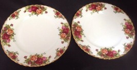 "Royal Albert ""Old Country Roses"" Set of 2 - 8"" Salad Plates Original Stamp MINT - $30.96"