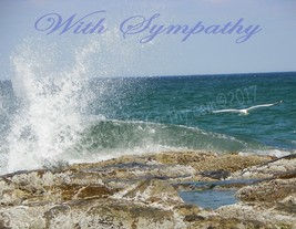 Sympathy Ocean Scene Blank  Robin Lee McCarthy Greeting Card - $4.99