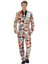 Comic Strip Suit, Large, Adult Costumes Stand Out Suits Fancy Dress - $88.43