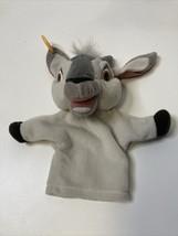 Vtg Disney DJALI the Hunchback of Notre Dame Goat Hand Puppet Gray Plush Mattel - $17.82