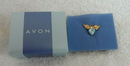 Tiny Angel Birthstone pin, tie tack , blue for March from Avon - $6.95