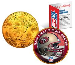 SAN FRANCISCO 49ERS NFL 24K Gold Plated IKE Dollar US Coin * NFL LICENSED * - $9.85