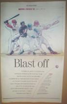 1999 Boston Globe Major League Baseball Preview Supplement Boston Red Sox + - $4.95