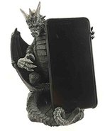 Ebros Gothic Standing Ferocious Guardian Dragon Cell Phone Holder Figuri... - $29.69