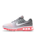 NIKE WOMEN'S AIR MAX 2017 SHOES platinum white grey 849560 007 MSRP $190 - $94.67