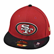 New Era San Fransisco 49ers Team Suede 59Fifty Men's Fitted Hat Cap Red-Black - £28.06 GBP