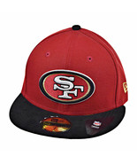 New Era San Fransisco 49ers Team Suede 59Fifty Men's Fitted Hat Cap Red-Black - $34.95