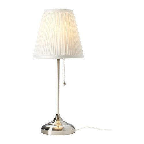 Ikea 602.806.39 Arstid Table Lamp, Nickel Plated White