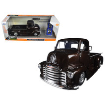 1952 Chevrolet COE Pickup Truck Brown Just Trucks with Extra Wheels 1/24... - $39.22